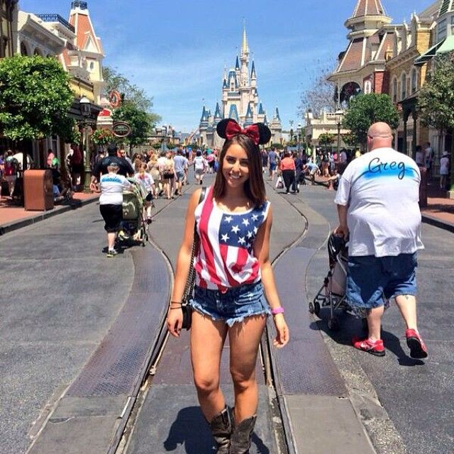 @taychat repping RG at Disney World. Shop the look here: http://www.rowdygentleman.com/products/american-flag-tank-top #rowdygentleman #toastingman
