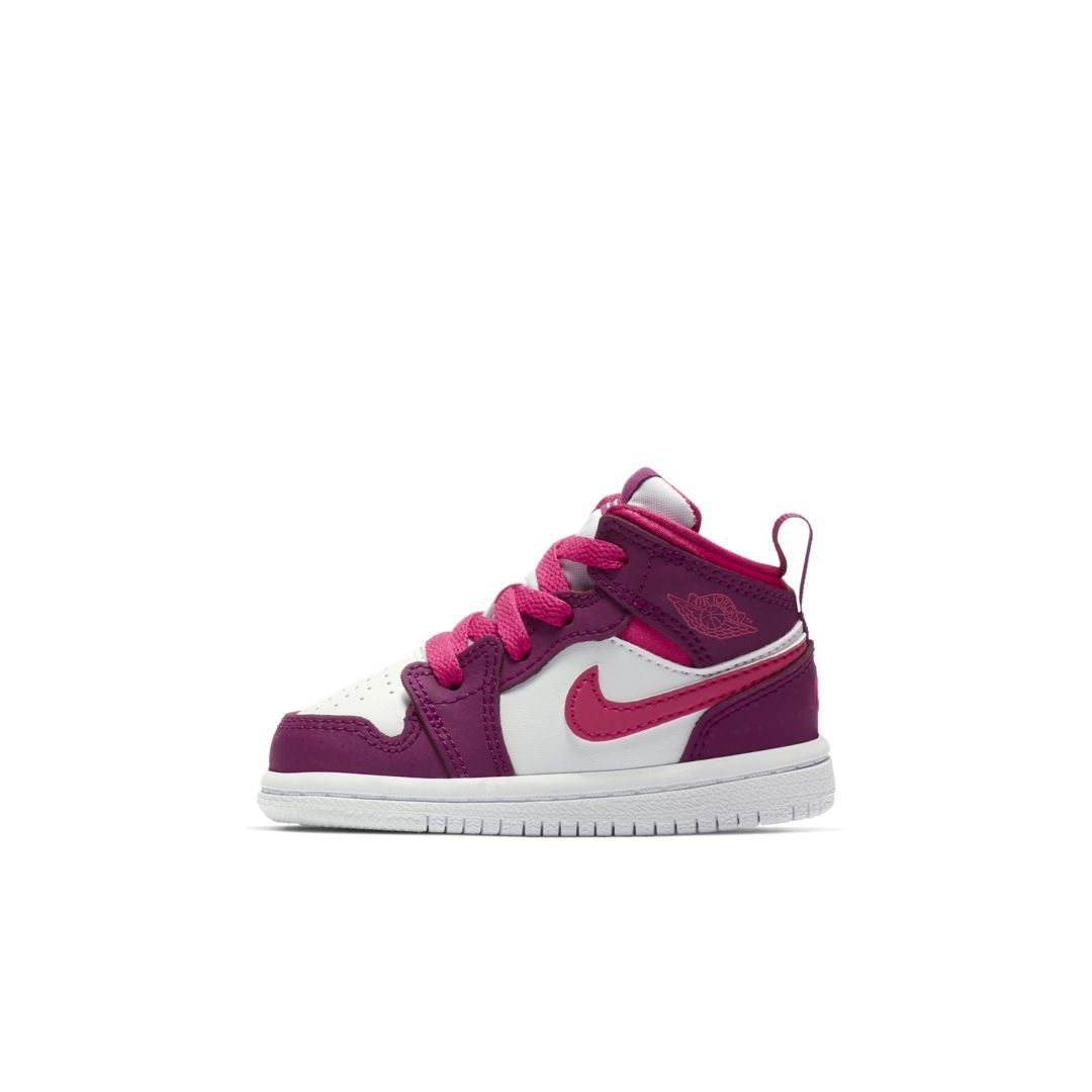 new product d5943 a3586 Air Jordan 1 Mid GT Infant Toddler Shoe Size 10C (True Berry)
