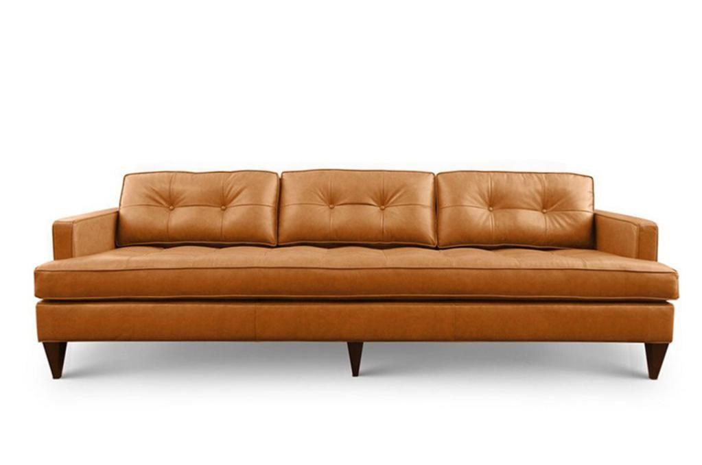 Rodney Modern Leather Sofa Mid Century Modern Leather Sofa
