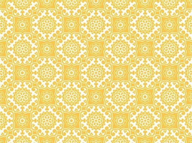 Papier Peint Jaune A Motifs | Papiers Peints | Wallpaper