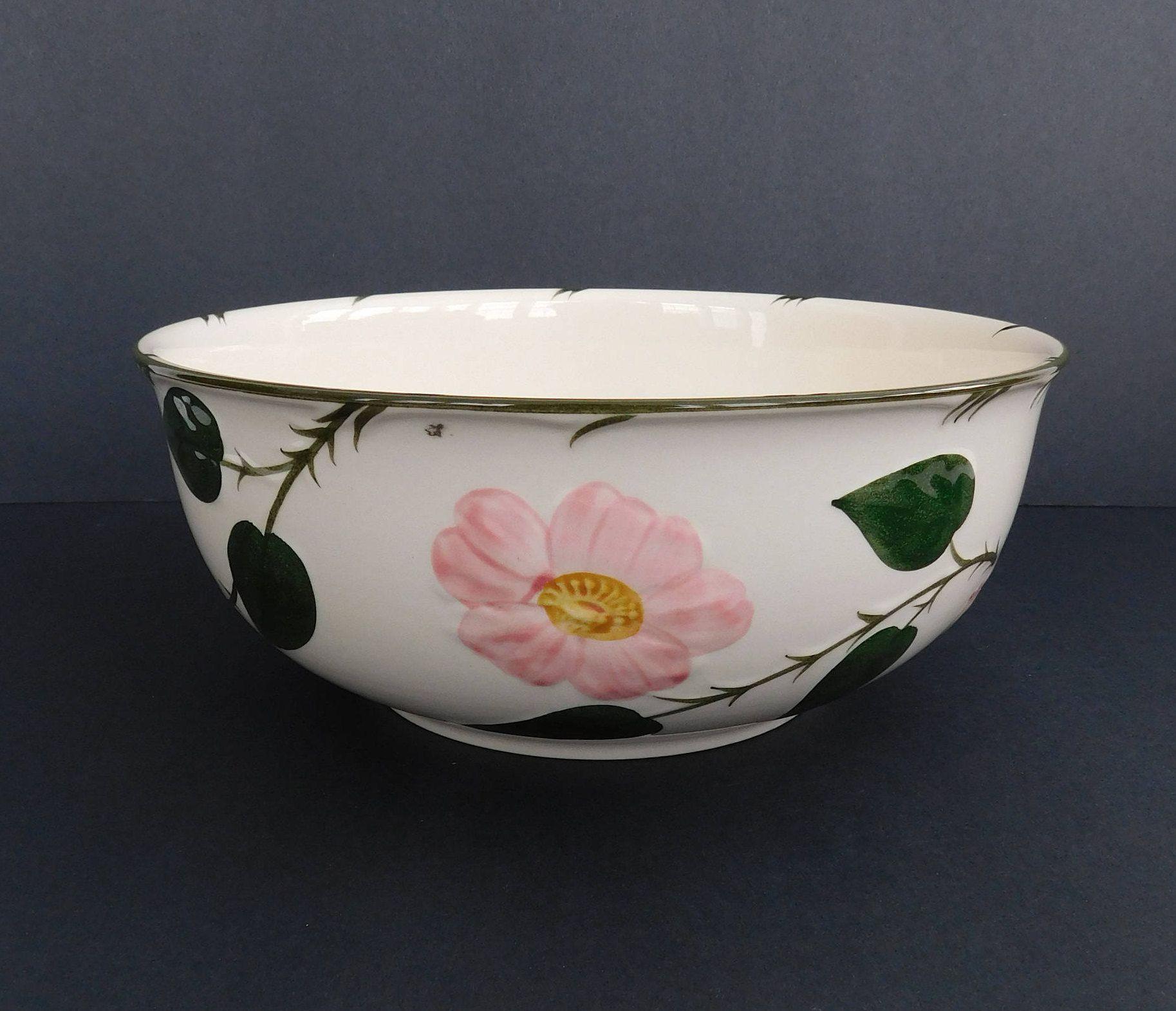 Vintage Villeroy Boch 1748 Wild Rose Vegetable Bowl Roses Serving Bowl Villeroy And Boch Wild Rose Dinnerware Bowl Vegetable Bowl Vintage Dishes