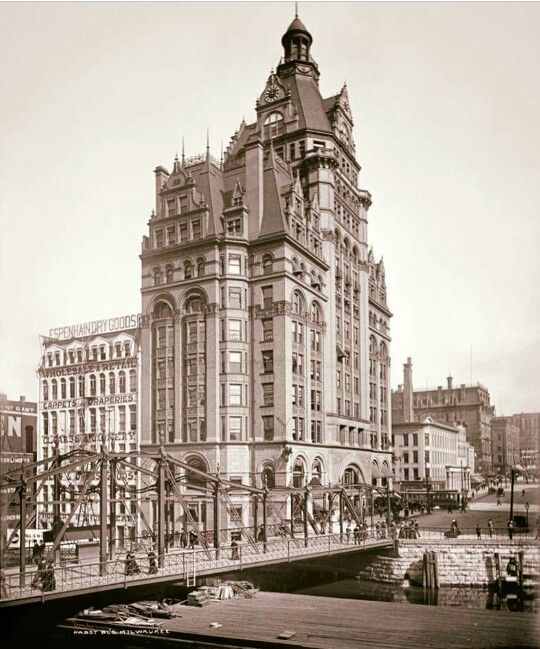 Early View Of The Pabst Building In Downtown Milwaukee