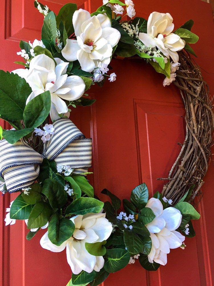 Photo of Large Grapevine Magnolia Wreath
