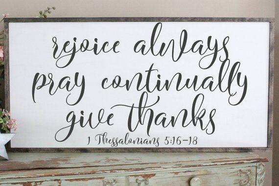 Pray Continually Wall Sign