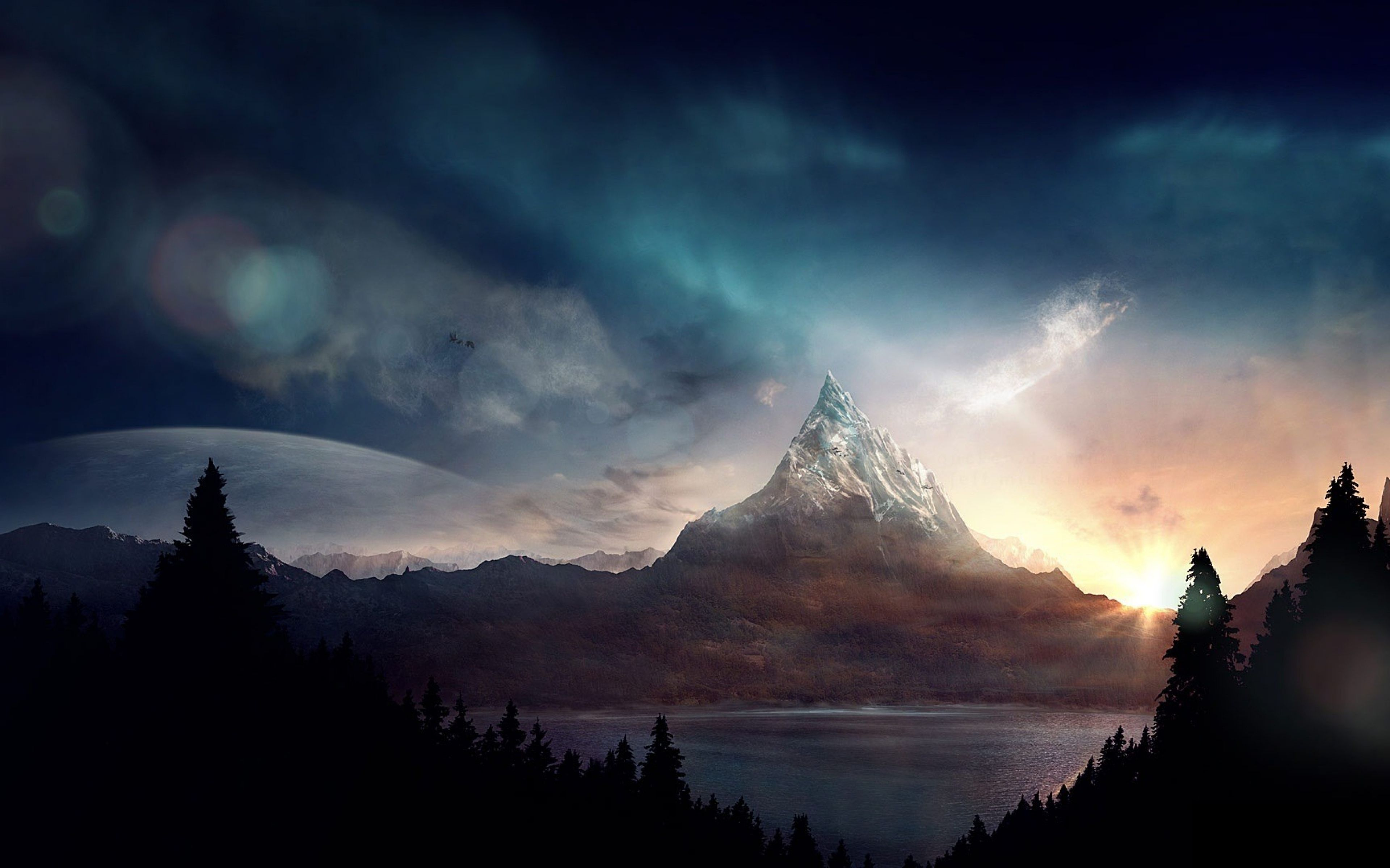 Dual Monitor Wallpaper Fantasy Pesquisa Google Landscape