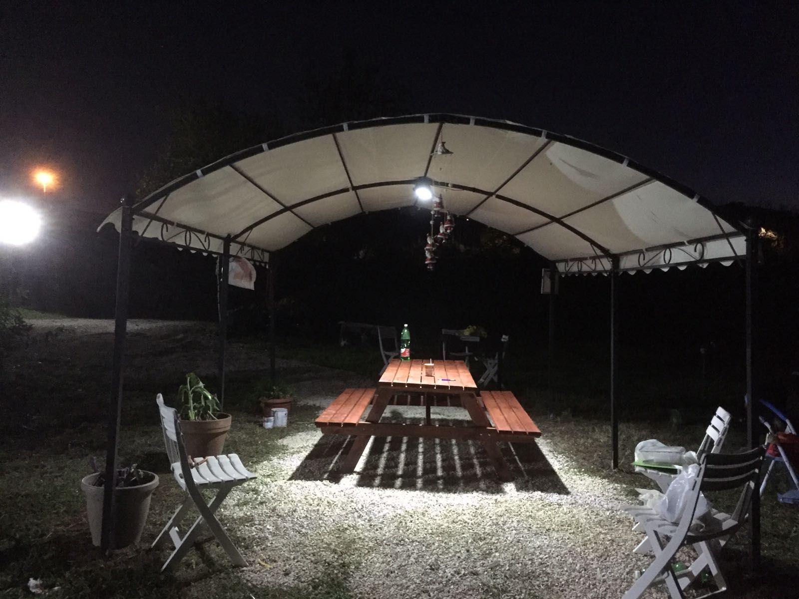 Plafoniera Con Sensore Incorporato : Faro a led solare per esterno 1000 lumen illuminazione ad energia