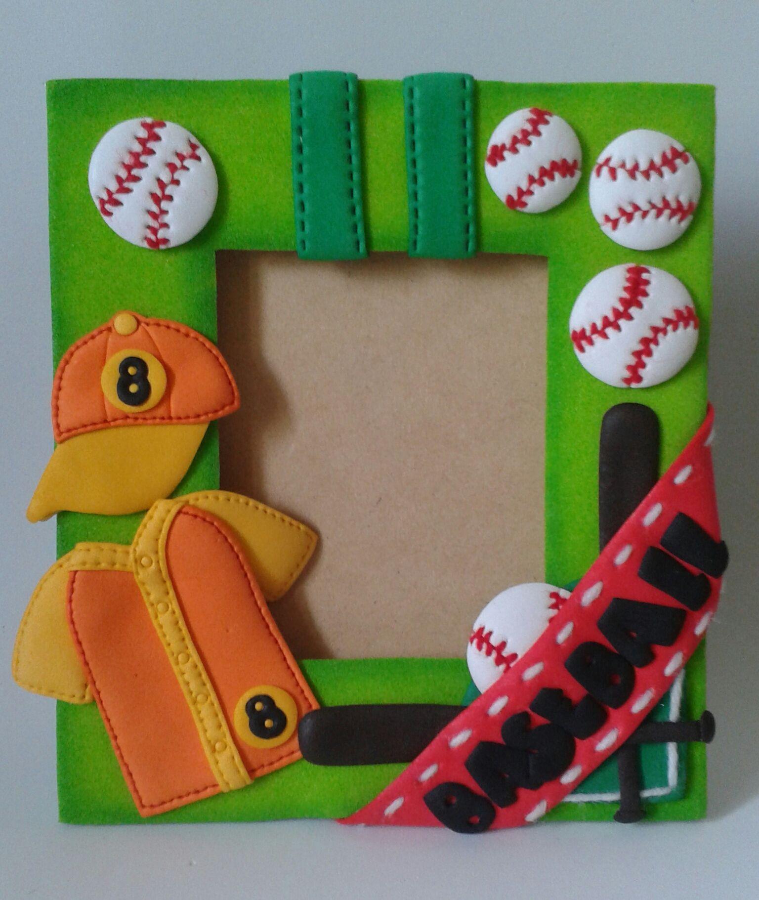 Baseball portaretrato, elaborado con Foamy. | Portaretratos ...