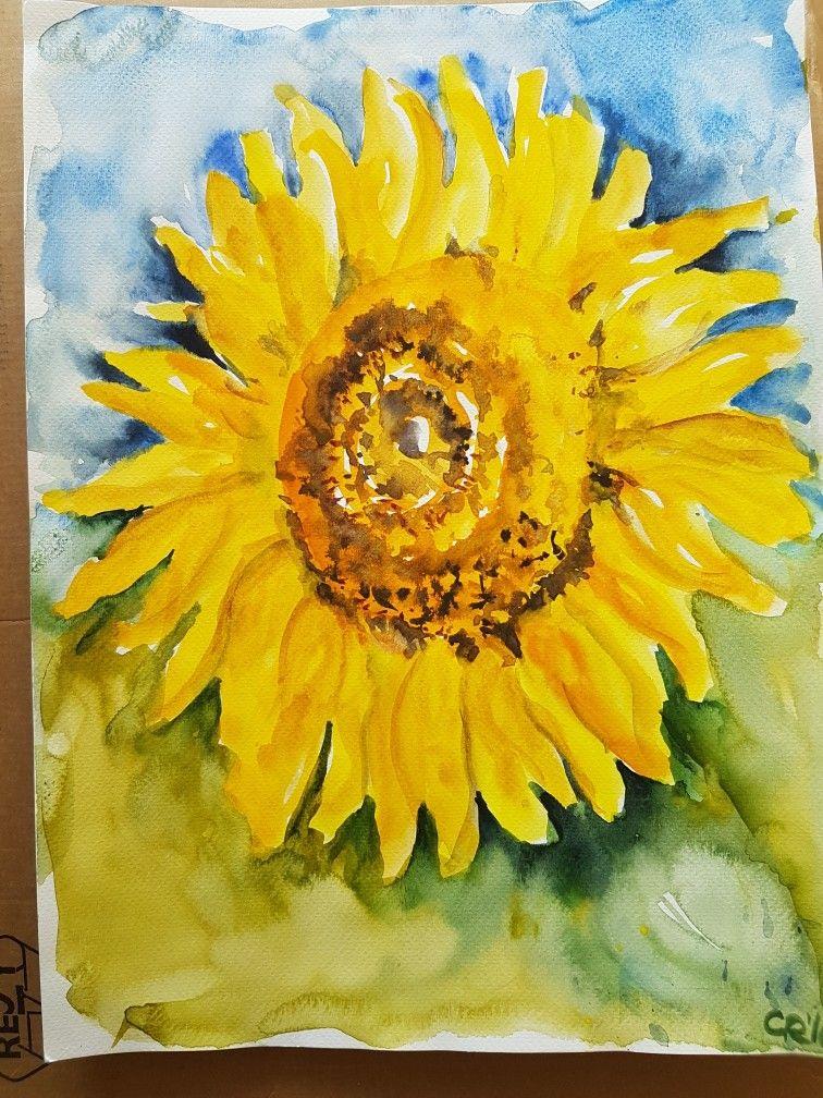 Aquarell Sonnenblume Aquarell Sonnenblume Sonnenblumen Aquarell