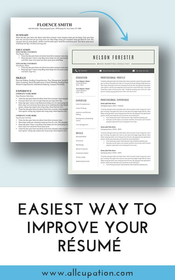 Easiest way to improve your resume Visit wwwallcupation for - interview summary template