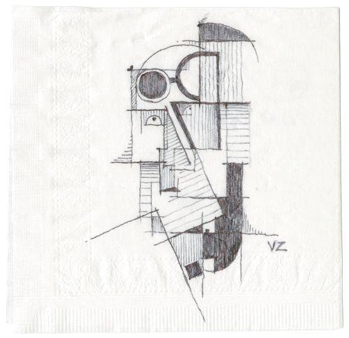 Vlad Zadneprianski: Cocktail Napkin Sketch Contest 2011
