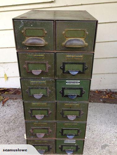 retro industrial metal drawers x 12 | Trade Me