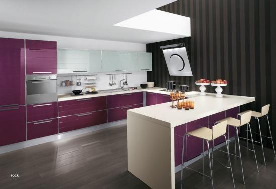 resultado de imagen para cocinas integrales modernas para casas pequeas color chocolate