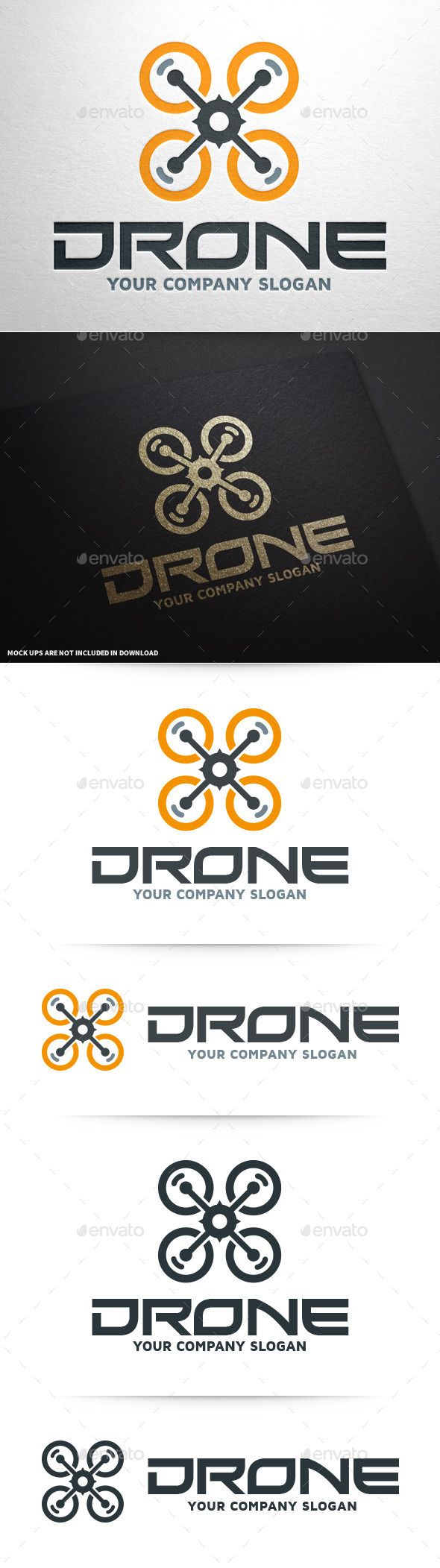 Drone Logo Template #vector #drone #logo #design available at #graphicriver