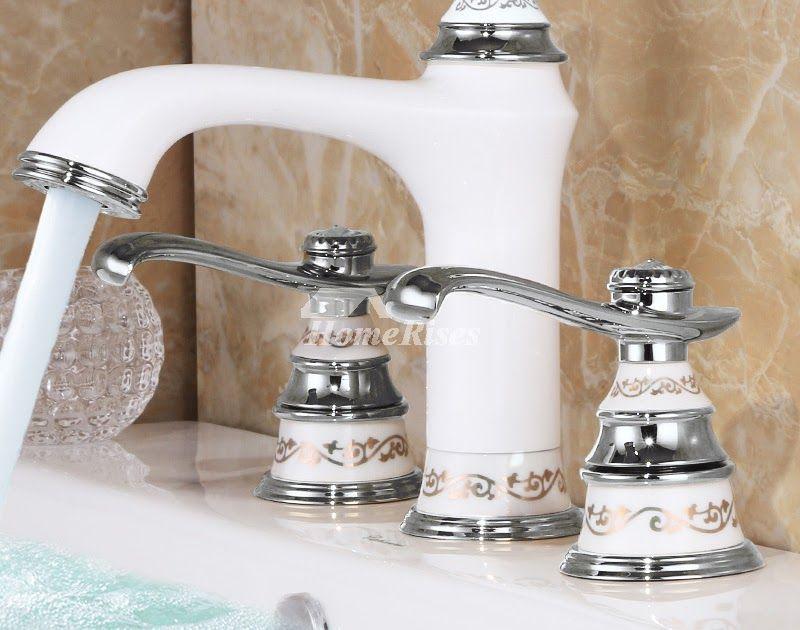 3 hole bathroom faucet white bathroom