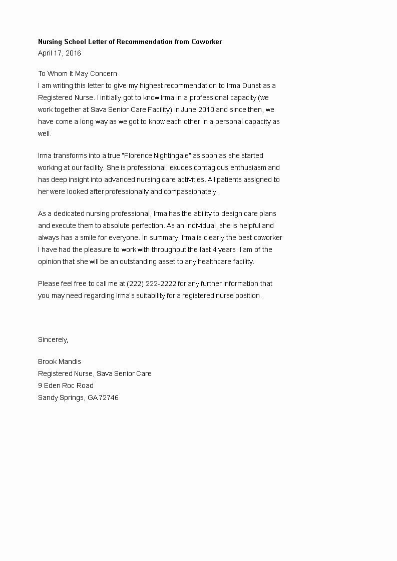 25 Letter Of for Nursing in 2020 Letter