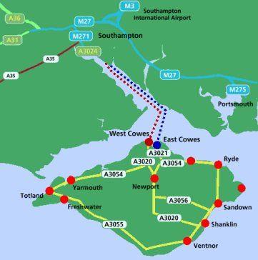 Solent Route Map 2 UK 2015 Pinterest Travel route