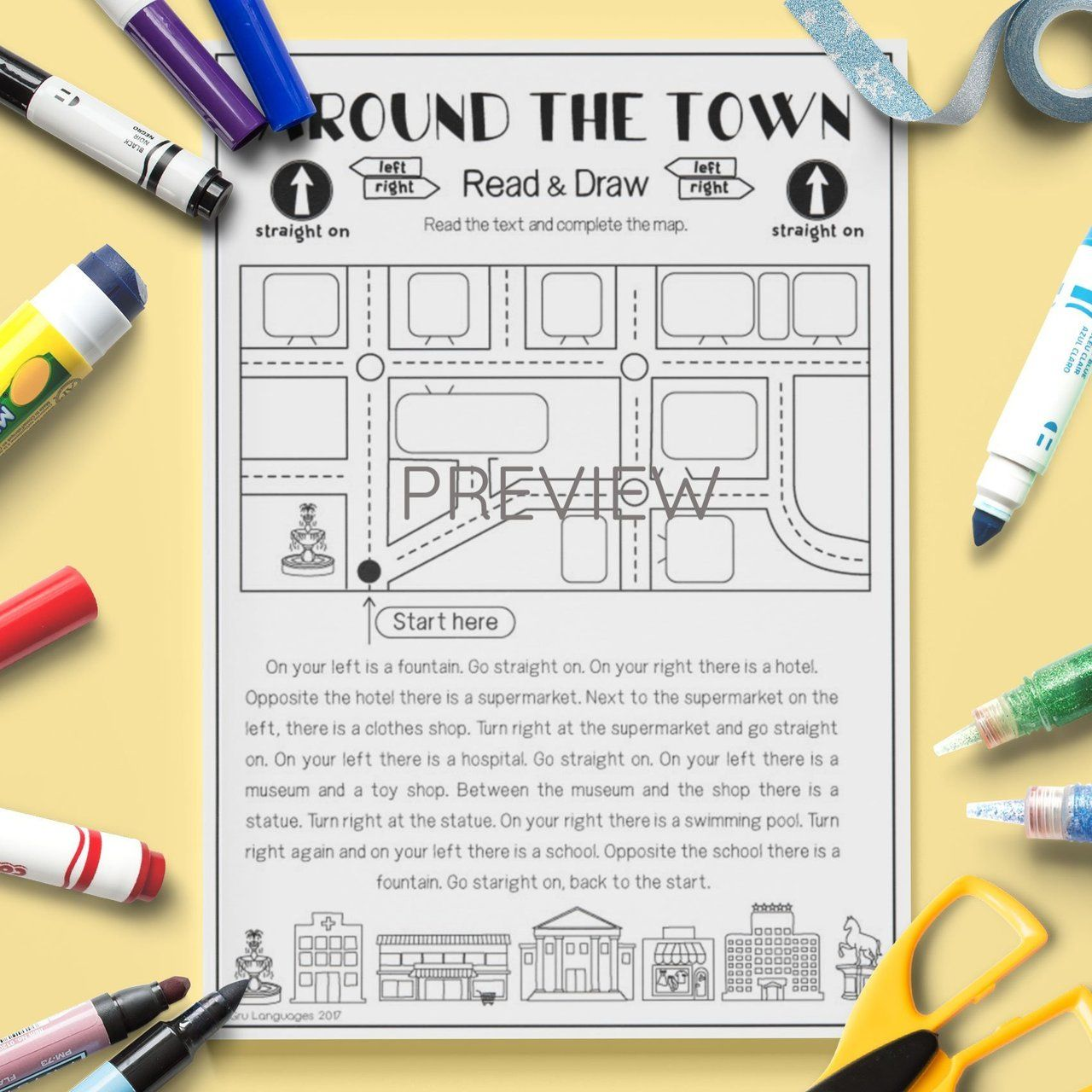 Around The Town Read Amp Draw