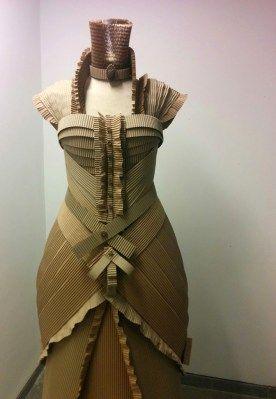 cardboard dress