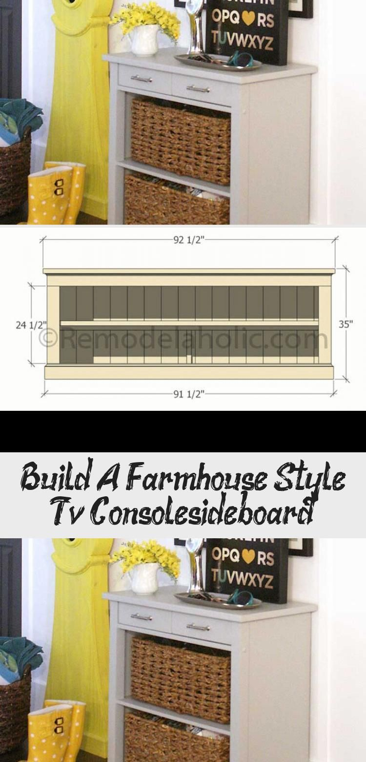 Photo of Build A Farmhouse Style Tv Console/sideboard – DIY