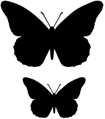 Mariposa para recortar | Recursos ATC | Pinterest | DIY y manualidades