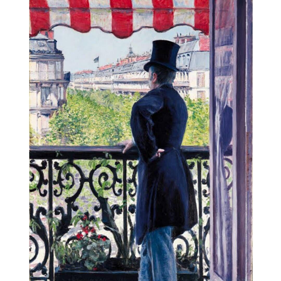 Gustave Caillebotte Man On A Balcony Boulevard Haussmann 1880