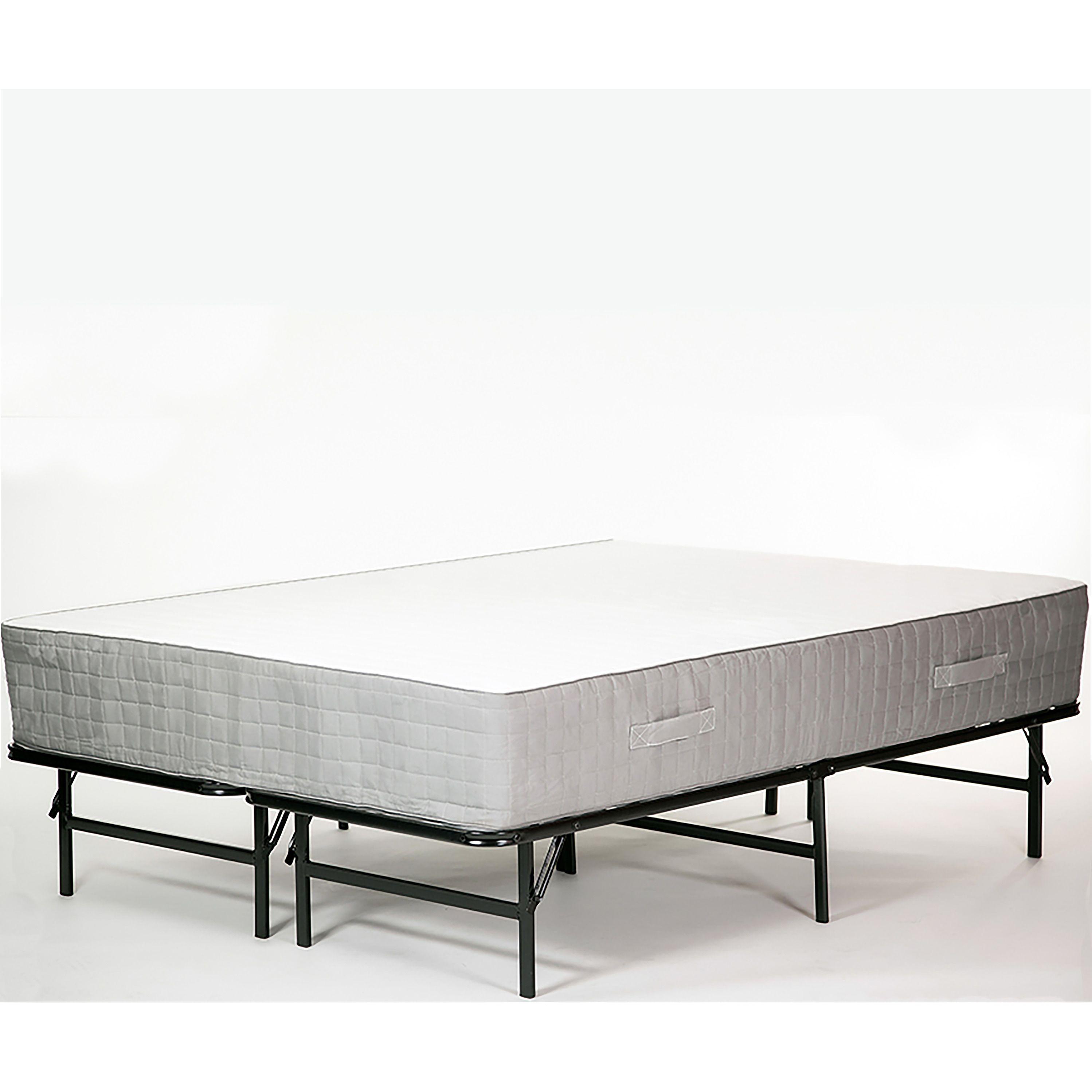 Handy Living California King Foldable Black Metal Bed Frame (Cal