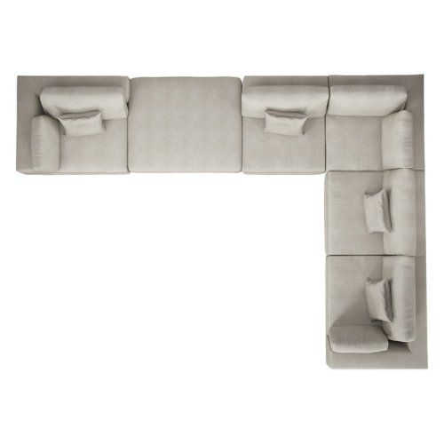 Modloft Perry 6 Piece Sectional Sofa L Shaped Sofa House Furniture Design Modern Sectional