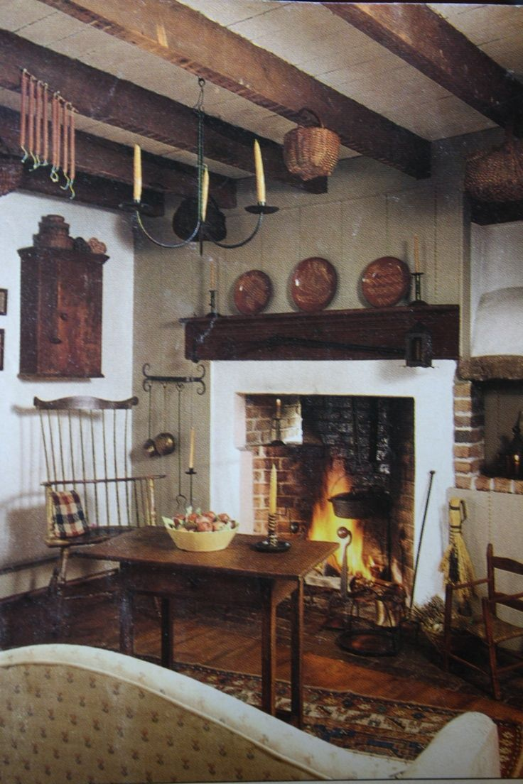 Pin by katrina snyder on colonial colonial colonial - Primitive country living room ideas ...