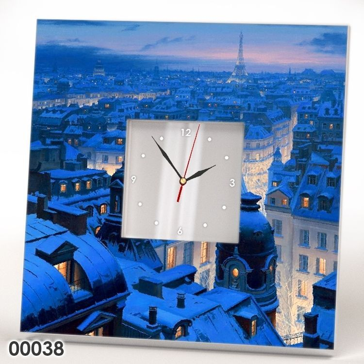 Details About Paris Winter Snow Eiffel Tower France Gift Wall Clock