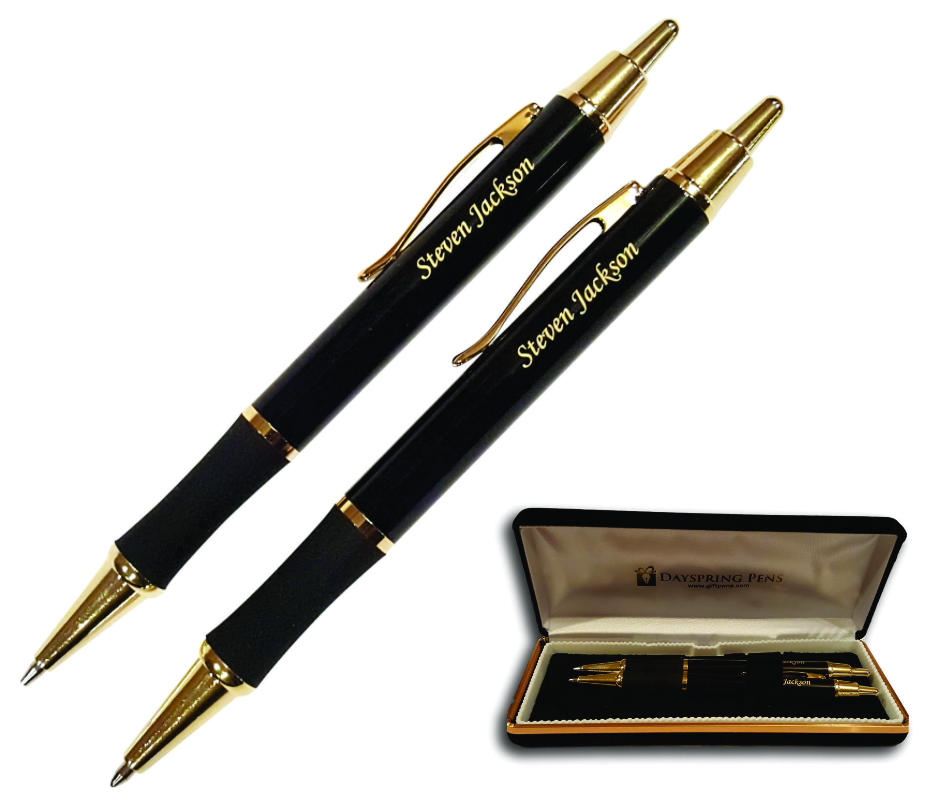 Personalised Engraved Parker Jotter Black Ballpoint Pen Gift Boxed Black Ink