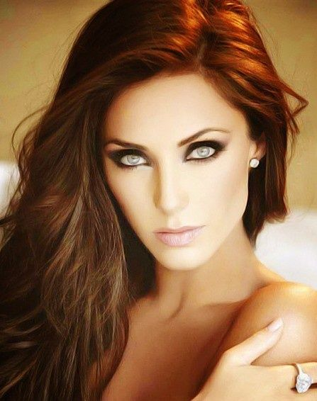 Best Hair Color For Hazel Eyes And Brown Green Pale Skin Warm Tones Red
