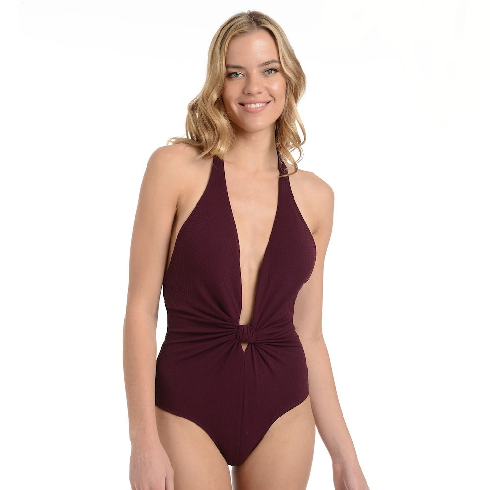 c8ddadf4382 Women's Cyn and Luca Essential One-Piece Swimsuit, Size: Medium, Med Purple