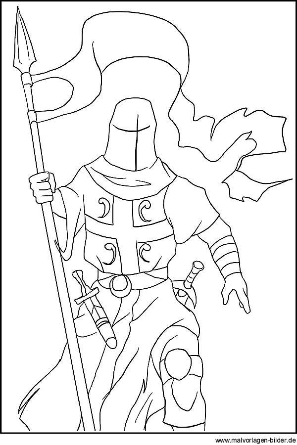 Ausmalbilder Zum Ausdrucken Ritter Art History Humanoid Sketch