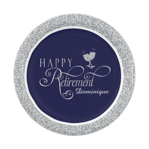 Modern Retirement Party Plates 7 Inch Paper Plate  sc 1 st  Pinterest & Modern Retirement Party Plates 7 Inch Paper Plate | Retirement ...