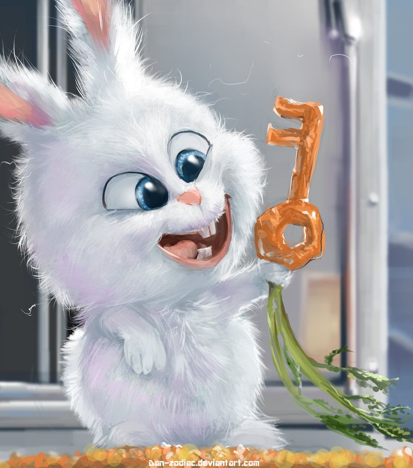 Fanart The Secret Life Of Pets Snowball By Dan Zodiac