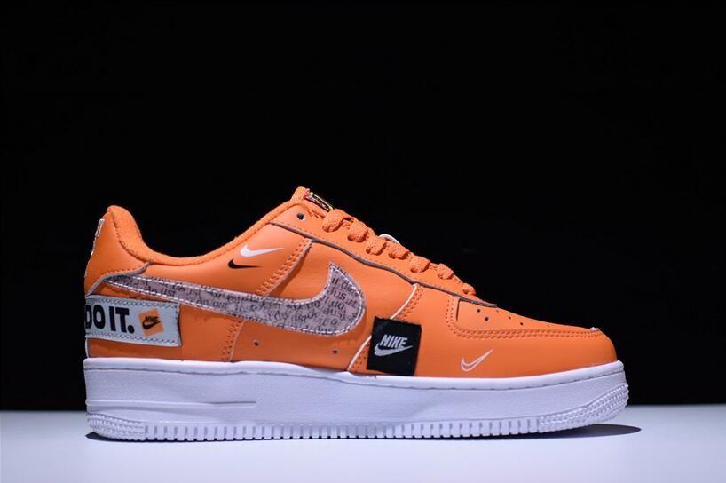 "2018 Nike Air Force 1 JDI '07 PRM ""Just Do It"" Total Orange"
