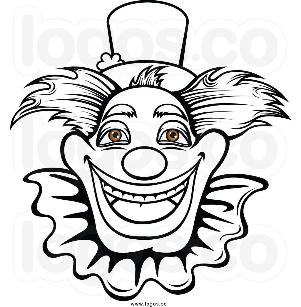 Black And White Clown Clipart Art Wallpaper Black And White Clown Art