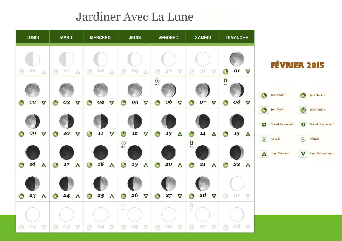 calendrier lunaire pour jardiner avec la lune. Black Bedroom Furniture Sets. Home Design Ideas