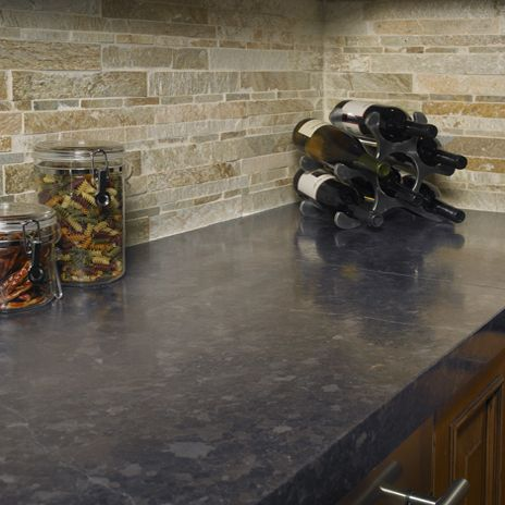 The Granite Gurus Slab Sunday Antique Brown Granite Stone Backsplash Kitchen Stone Backsplash Stacked Stone Backsplash