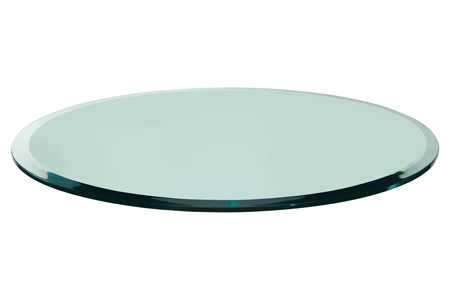 Etonnant 36 Round Glass Table Top | 1/4 Thick, Beveled Edge, Tempered Glass $109.95