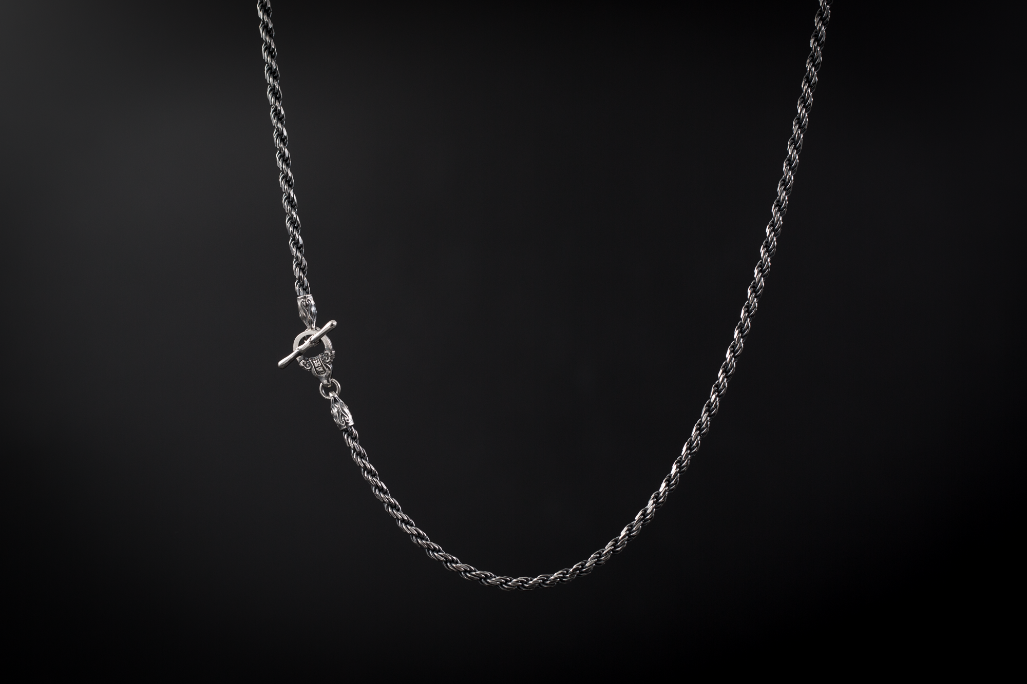 Silver Necklace Chain 3mmaged Finishsterling Silver 925 Etsy Silver Chain For Men Silver Chain Necklace Chains Necklace