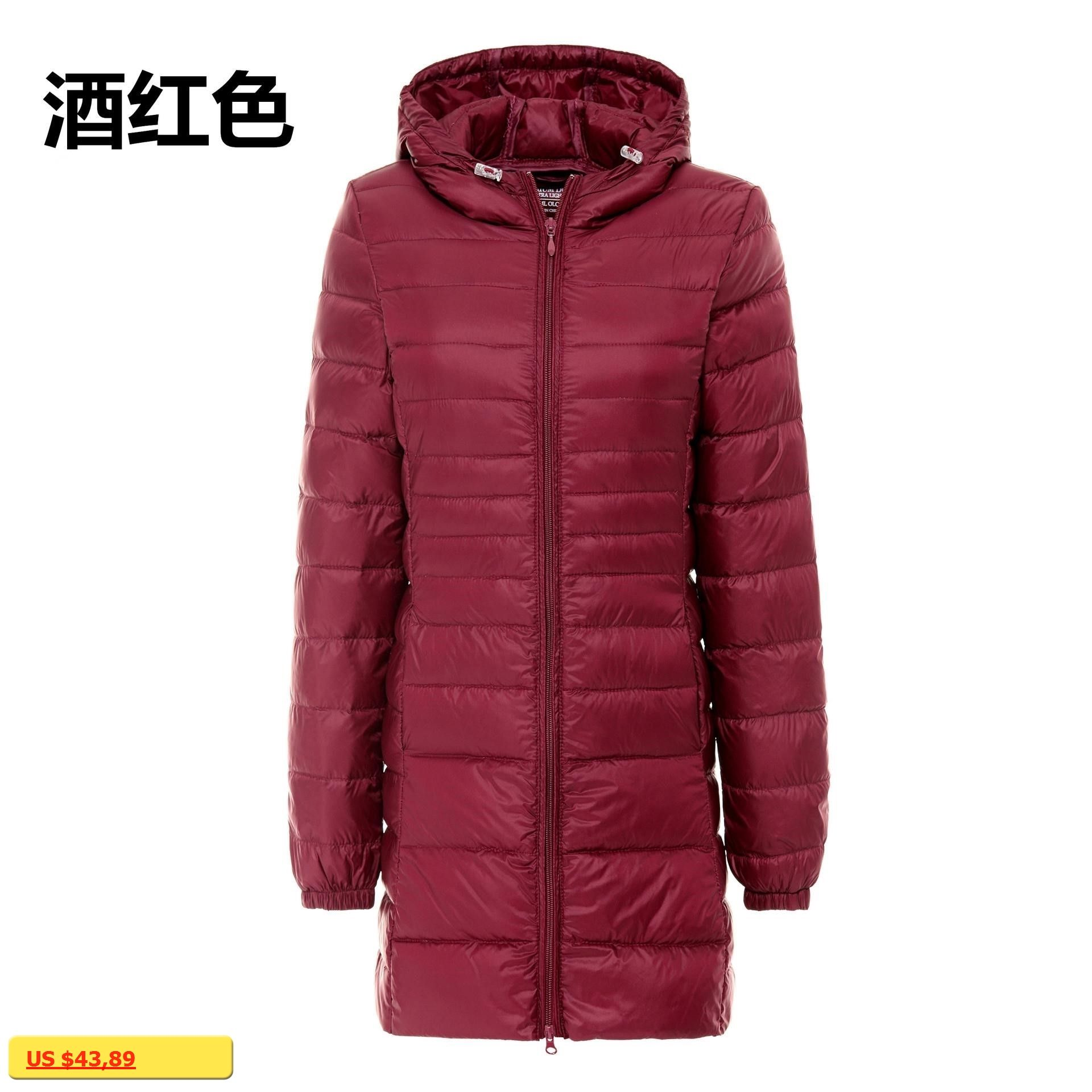 fa94fb1cd 2017 winter 90 white duck down jacket women long coat parkas female ...