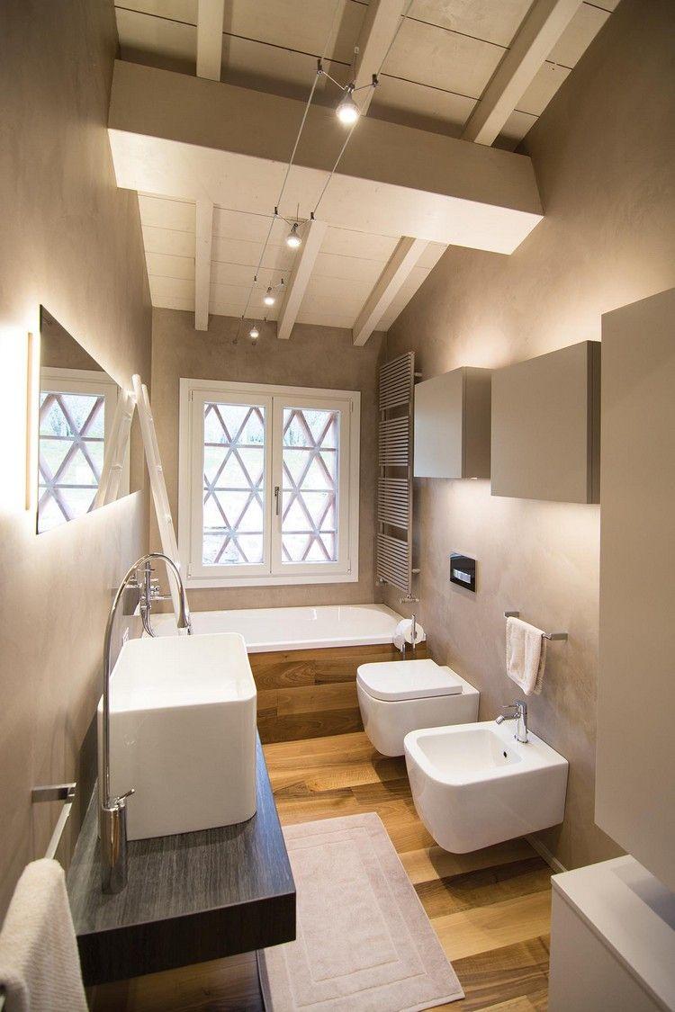 modernes Badezimmer mit Parkett | Schöner Duschen:) | Pinterest ...