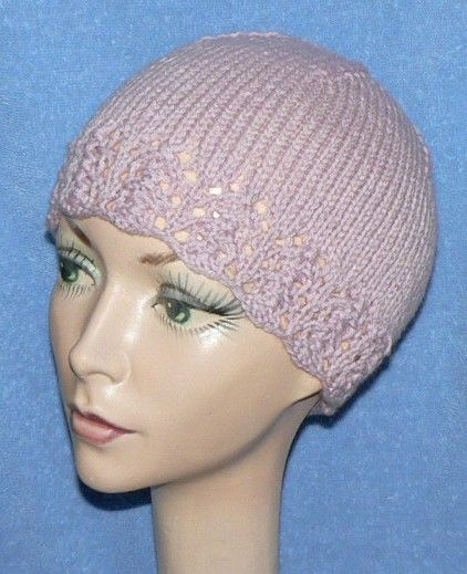 Lace-Edged Women's Hat This is another great pattern that ...