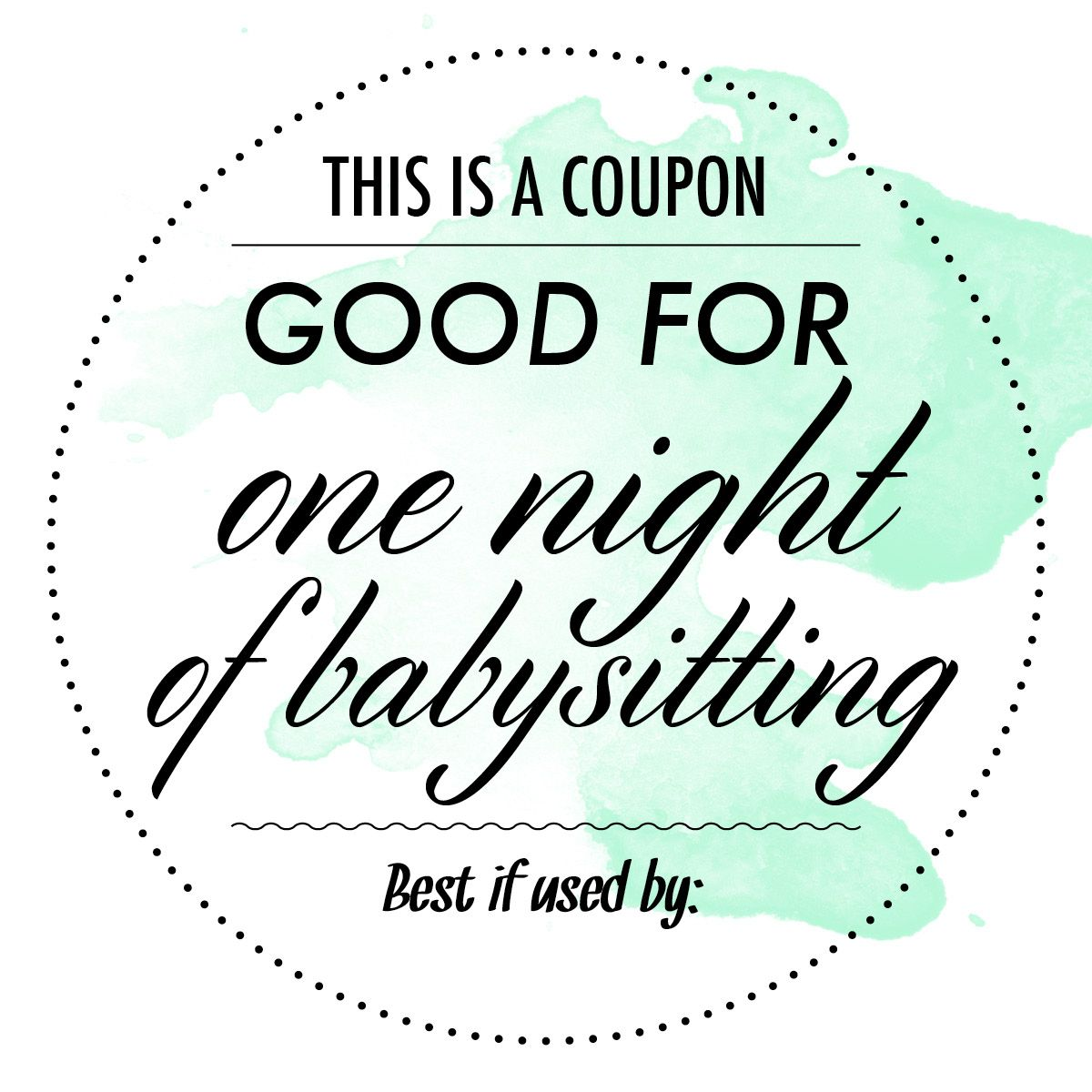 free babysitting coupon - Google Search | Appreciation & Thinking of ...