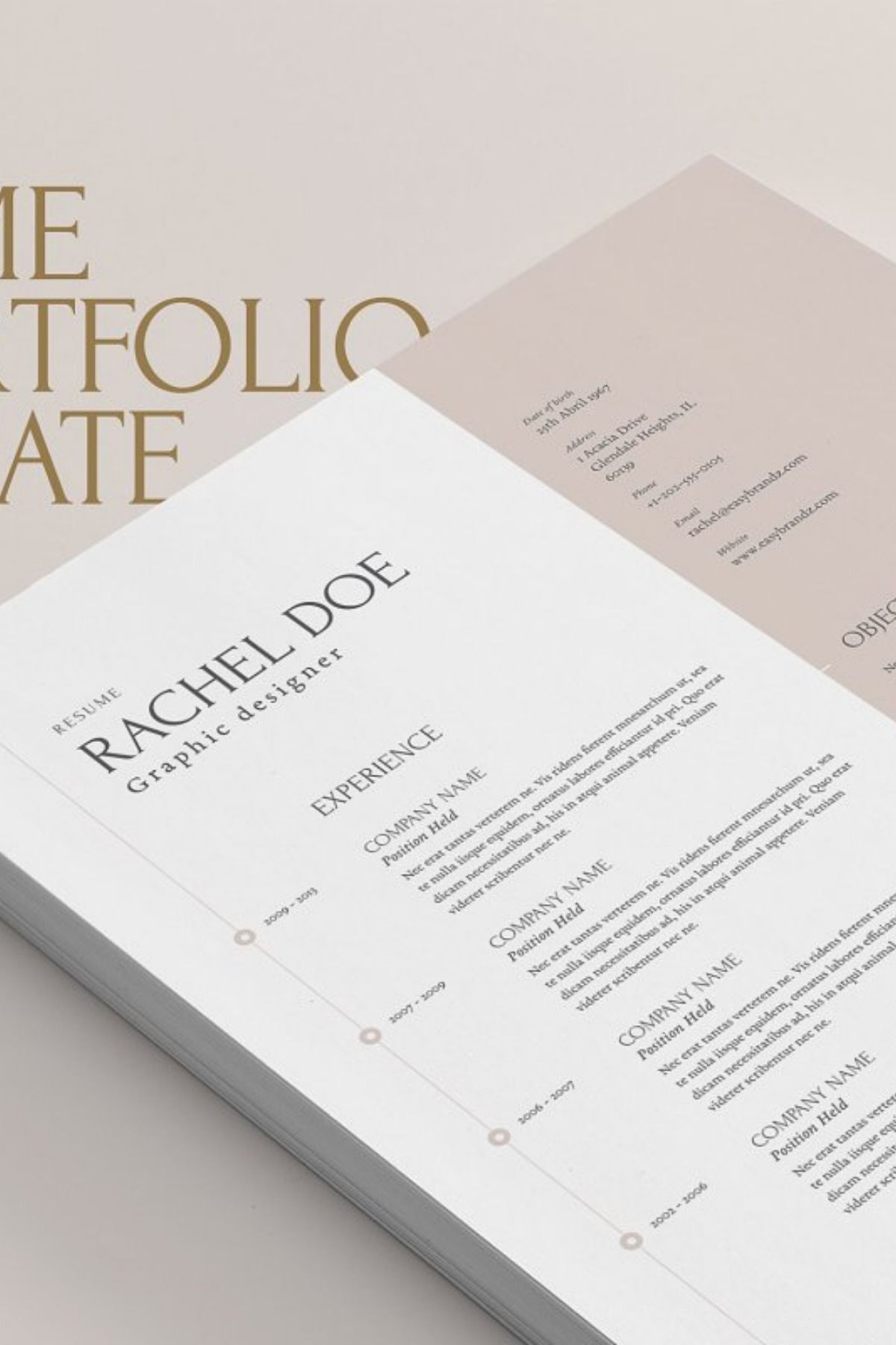 This resume & portfolio was designed to make you stand out