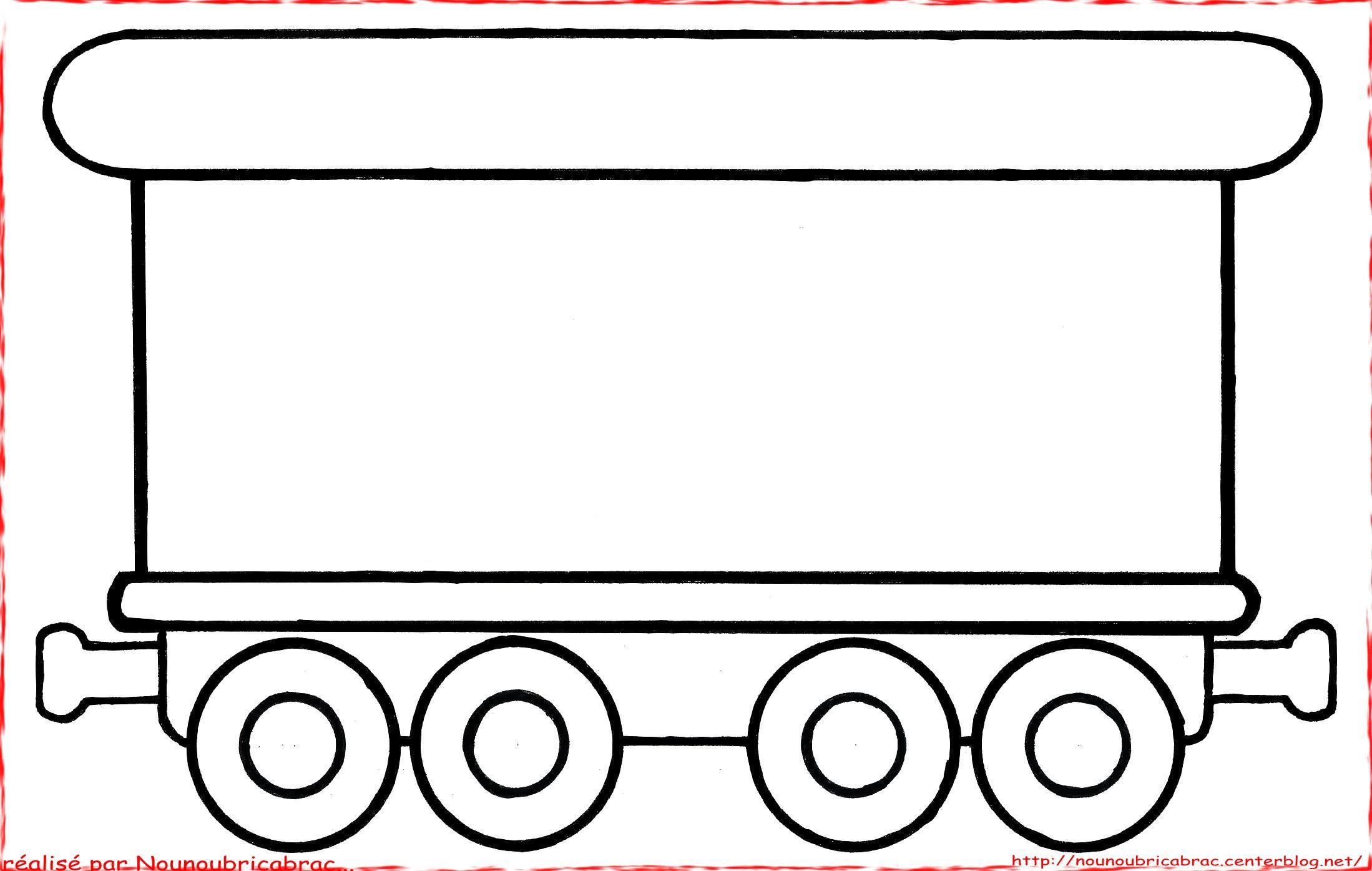 Wagon A Colorier Dessin Train Coloriage Train Dessin Wagon