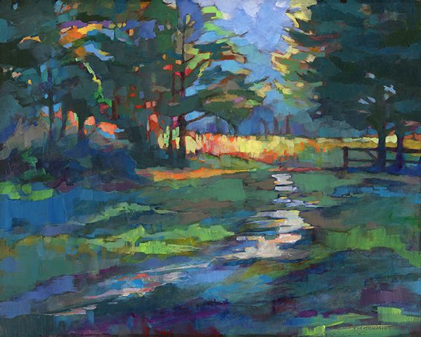 In The Morning Ii Louisiana Landscape Painting In Acrylic Impressionist Style Illustration Of Morning Sun On Cedar Trees Painting Of A Path In The Woods Ju Art Painting Oil Art Painting