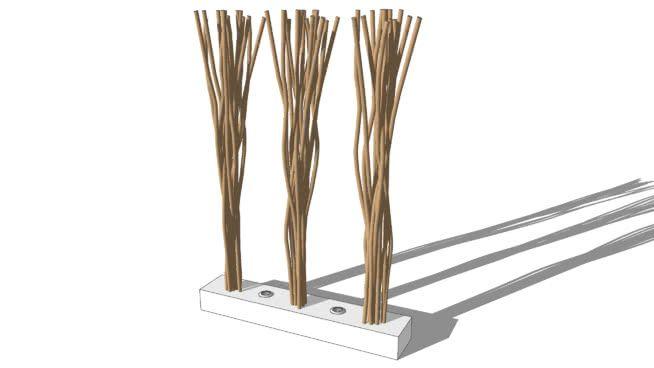 Paravent lumineux en bois et coton blanc L 100 cm TOUNDRA