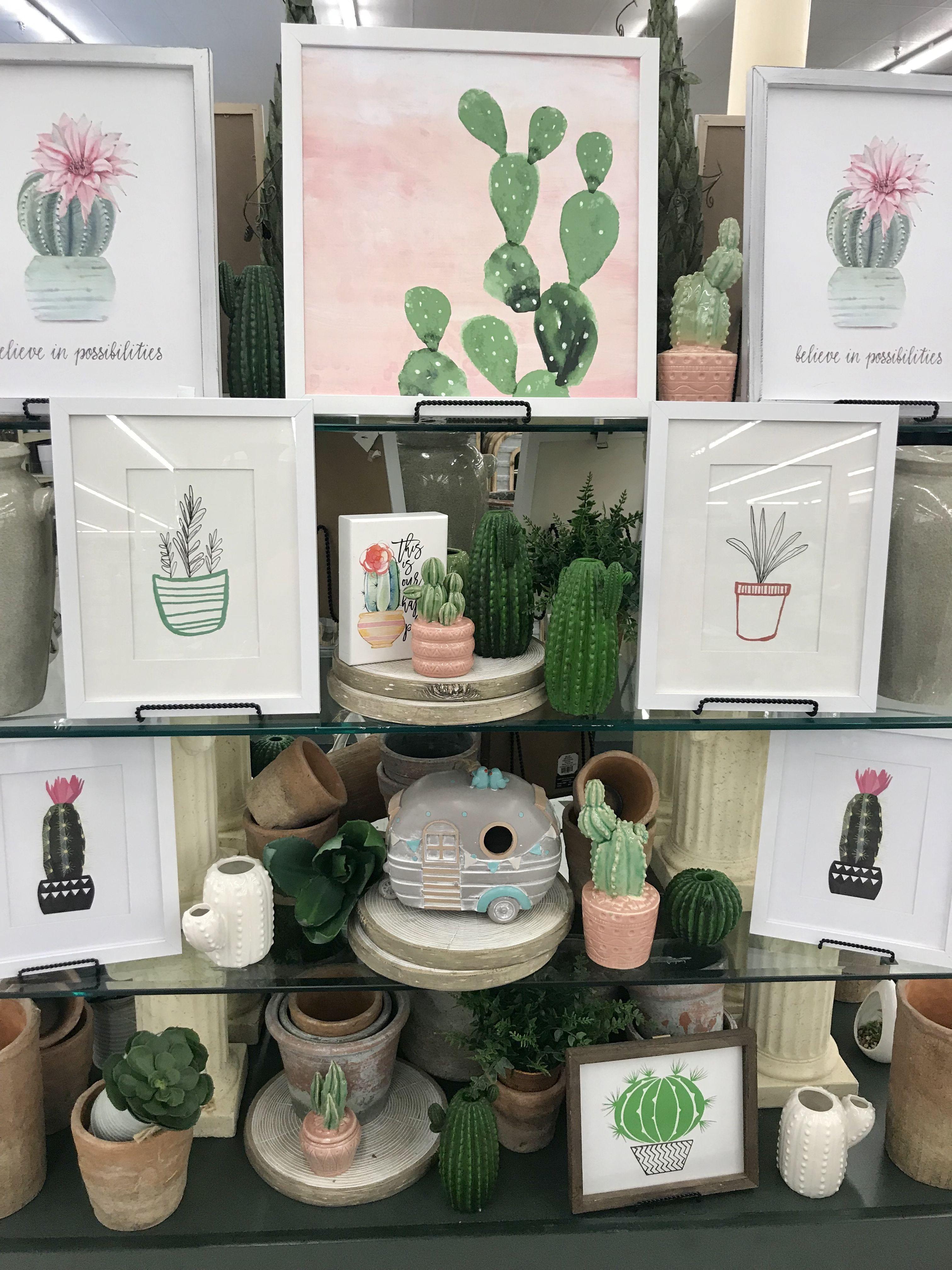 Hobby Lobby Merchandising Table Displays Work Cactus Table Two Hobby Lobby Wall Decor Cactus Decor Bathroom Themes